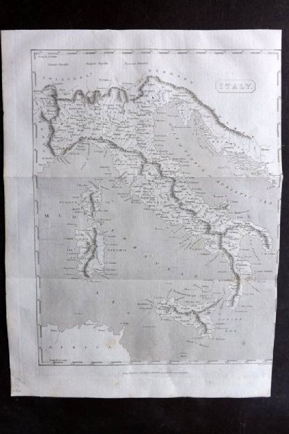 Encyclopaedia Perthensis 1816 Antique Map. Italy